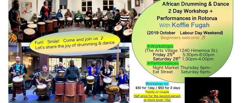 African Drumming and Dance Workshops in Rotorua