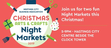 Hastings City Night Markets - Lighting of The Christmas Tree