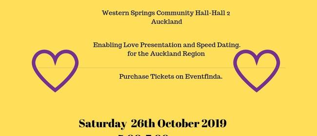 Enabling Love Speed Dating Event & Presentation