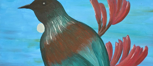 Paint Your Own Tui with Heart for Art NZ