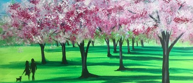 Paint & Chill Night - Cherry Blossom in the Park