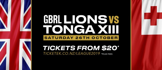 GB Rugby League Lions v Tonga