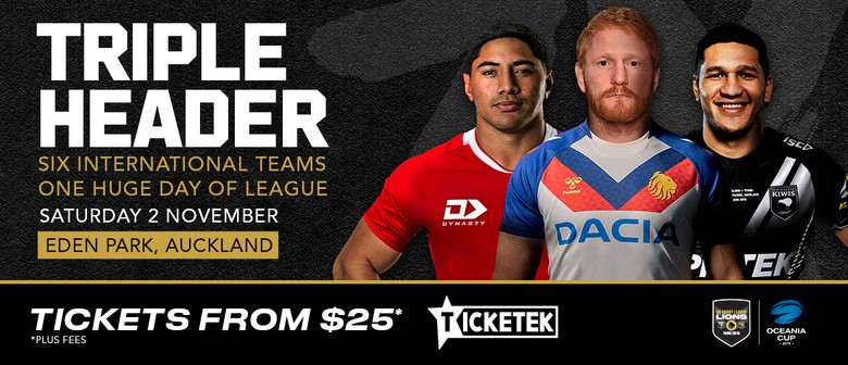 GB Rugby League Lions v NZ, Tonga v Aus & Samoa v Fiji