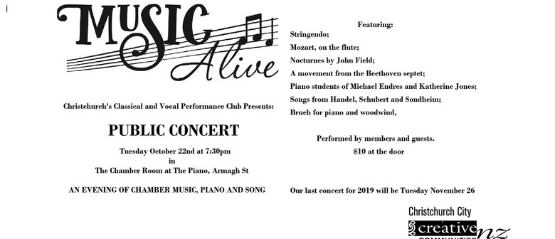 Music Alive - October Concert