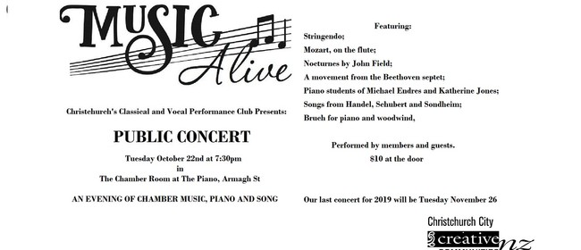 Music Alive - October Concert