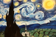 Image for event: Paint & Wine Night - A Starry Night - Paintvine