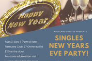 Image for event: Singles New Years Eve Party With Rebel Without Applause