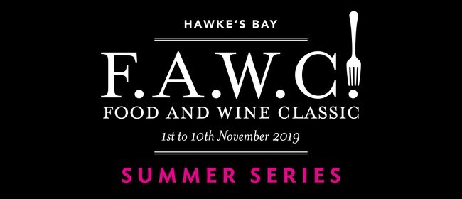 F.A.W.C! Launch Party with Hawke's Bay Winemakers