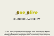 Image for event: Ed Pool - One Olive Single Release Show