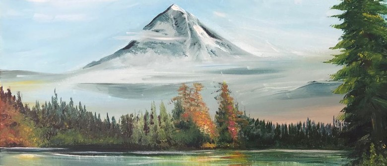 Paint & Chill Night - Snowy Mountain - Bob Ross Inspired