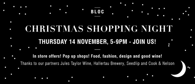 The Annual BLOC Christmas Shopping Night