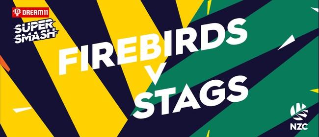 Dream11 Super Smash - Wellington Firebirds v Central Stags