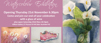 Watercolour Art Exhibition Opening