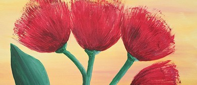 Paint Your Own Pohutukawa with Heart for Art NZ