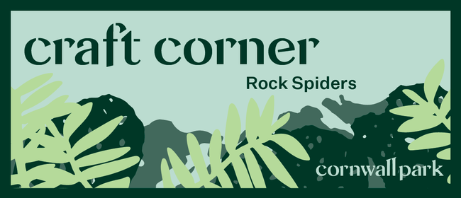 Craft Corner: Rock Spiders