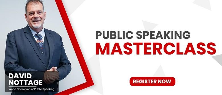 Public Speaking Masterclass by David Nottage