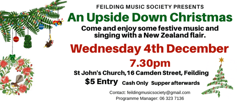 Feilding Music Society – An Upside Down Christmas Concert