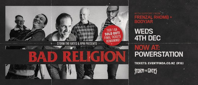 Bad Religion With Guests Frenzal Rhomb & Bodyjar