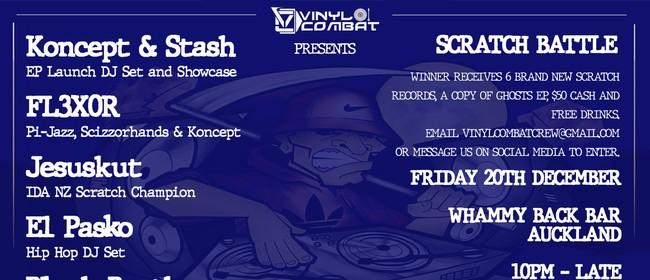 Vinyl Combat Presents Ghosts EP Launch (NZ) & Scratch Battle