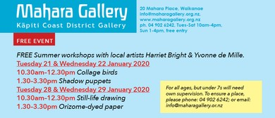 Summer Workshops with Harriet Bright & Yvonne de Mille