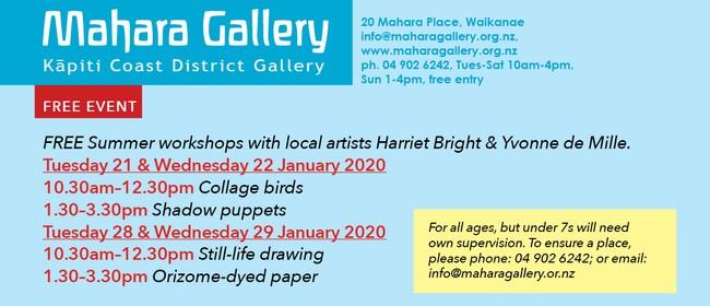 Summer Workshops with Harriet Bright & Yvonne de Mille
