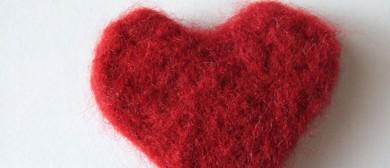 Kids & Their Grownups - Felted Valentine's Day Heart