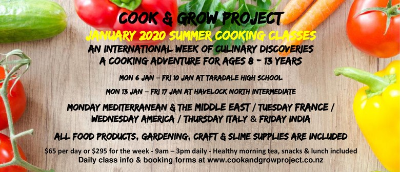 Cook & Grow Project Holiday Cooking Classes 8-13Yrs