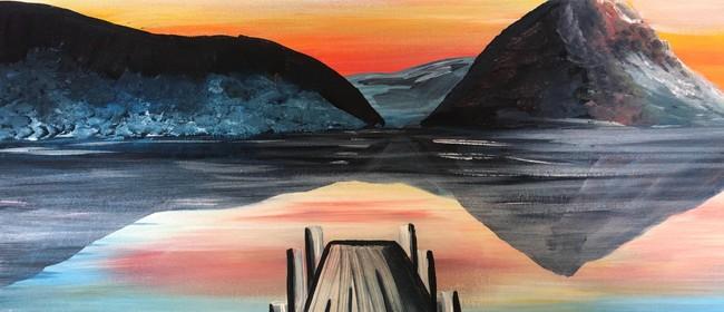 Paint and Wine Night - Sunset at the Wharf - Paintvine