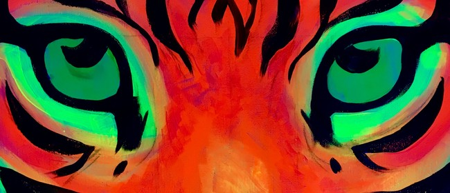 Glow In The Dark Paint Night - Fire Tiger - Paintvine: CANCELLED