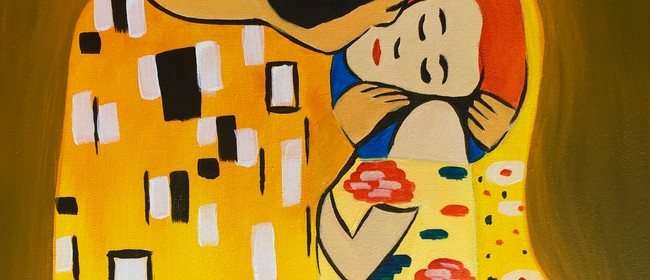 Paint and Wine Night - The Kiss - Paintvine