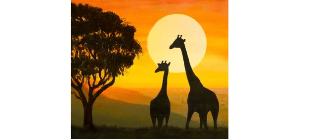 Wine and Paint Party (BYO) - Giraffe Silhouette Painting