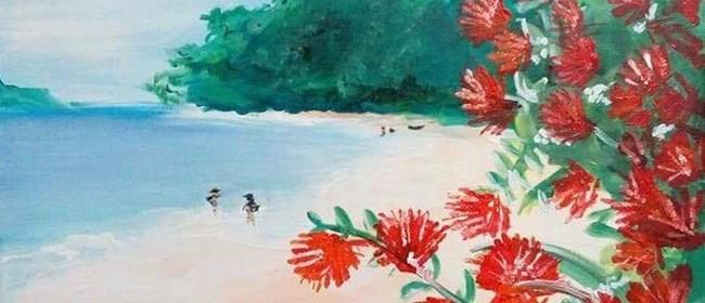 Paint & Wine Night - Summer in NZ - Paintvine
