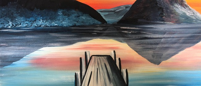 Paint & Wine Night - Sunset at the Wharf - Paintvine