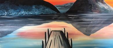 Paint & Wine Night - Sunset at the Wharf - Paintvine