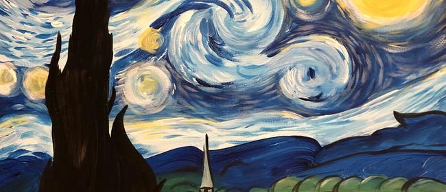 Paint & Wine Night - A Starry Night - Paintvine