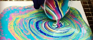 Make your own paint pour at Arts in the Park 22 Feb 2020
