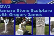 GJW1: Oamaru Stone Sculpture with Gregory James