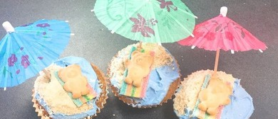 Kids Cupcake Class - Sunbathing Teddy Bears