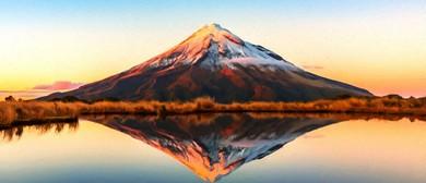 Wine and Paint Party - Mt Taranaki Reflection Painting