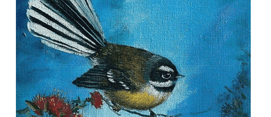 Wine and Paint Party - Fantail Painting