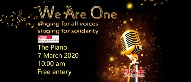 We Are One Singing Event