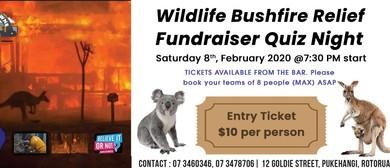 Pub Quiz Charity Fundraiser - Australian Bushfire Wildlife