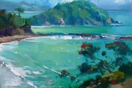 Wine and Paint Party - Coromandel Beach Painting