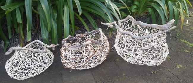 Whimsical Driftwood Baskets
