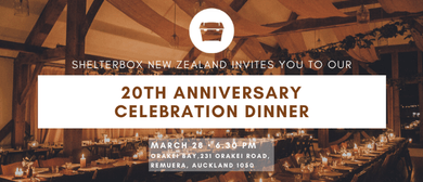 Shelterbox 20th Anniversary Celebration Dinner