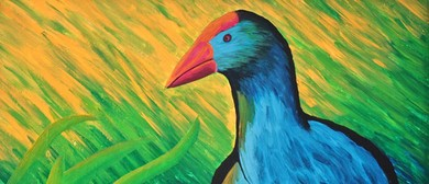 Paint Your Own Perky Pukeko with Heart for Art NZ