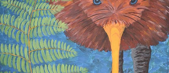Paint Your Own Kia Kaha Kiwi with Heart for Art NZ