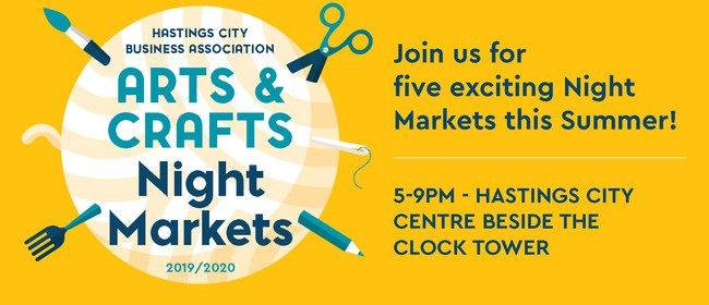 Hastings City Arts & Crafts Night Market: CANCELLED
