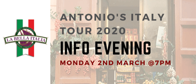 Antonio's Italy Tour 2020 Info Evening