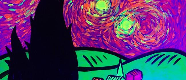 Glow In The Dark Paint Night - A Glowy Night - Paintvine